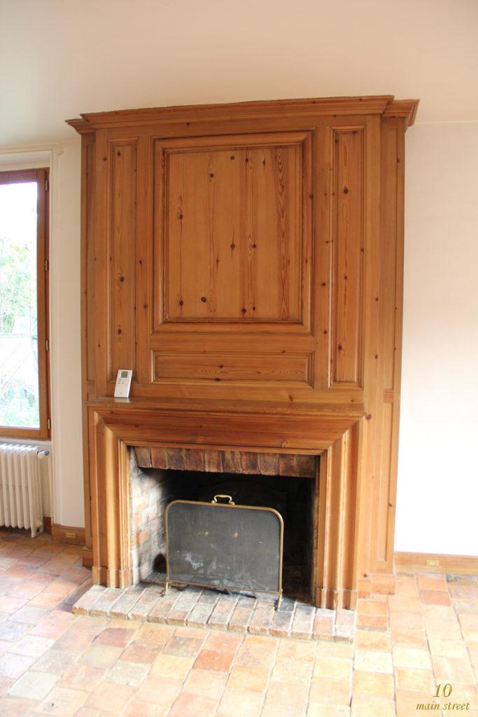 La cheminée avant notre installation