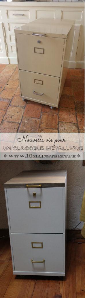 Nouvelle vie pour un classeur métallique | www.10mainstreet.fr