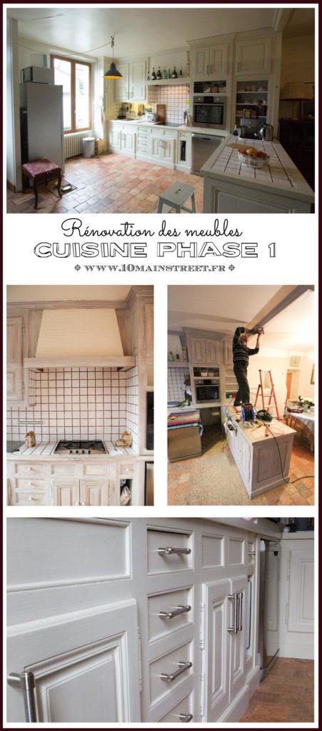 Cuisine phase 1 : rénovation des meubles de cuisine