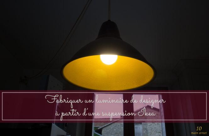 Fabriquer un luminaire de designer avec une suspension Ikea Foto