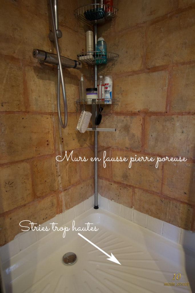 Intérieur de la douche