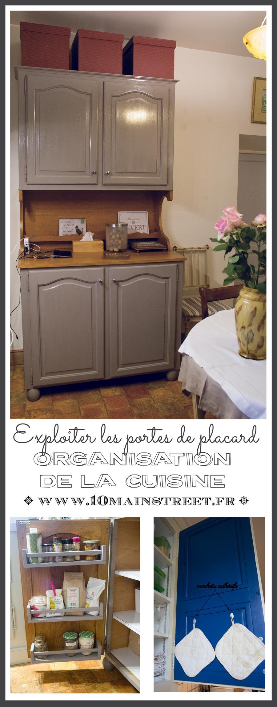 Exploiter les portes des placards de cuisine pour mieux for Portes de placards de cuisine