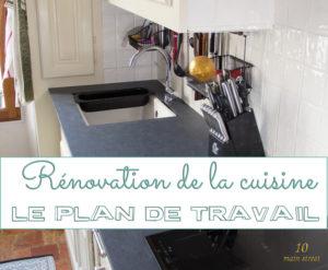 Rénovation de la cuisine : le plan de travail