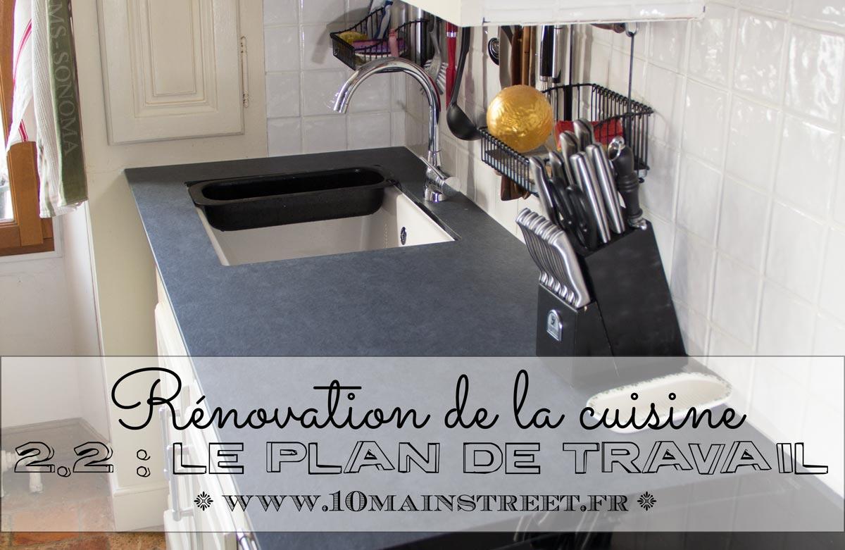 Rénovation de la cuisine 2.2 : le plan de travail