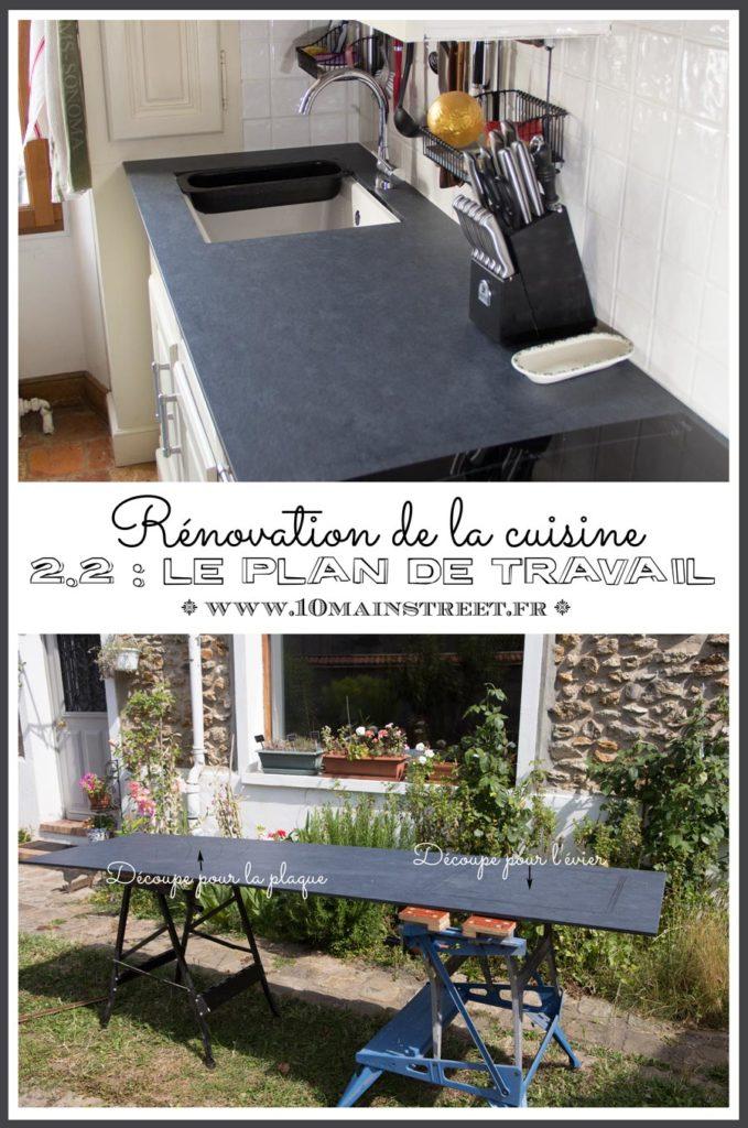 Rénovation de la cuisine 2.2 : plan de travail en stratifié compakt