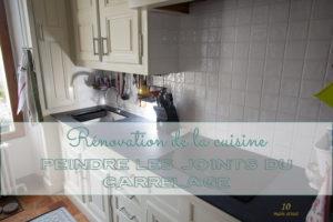 Rénovation de la cuisine : peindre les joints de carrelage de la crédence