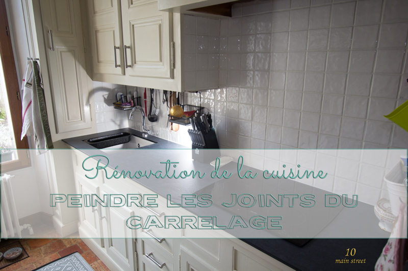 R novation de la cuisine peindre les joints de carrelage for Les joints de carrelage