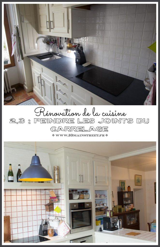 Rénovation de la cuisine 2.3 : peinture des joints du carrelage
