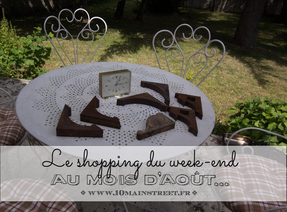 Le shopping du week-end au mois d'août