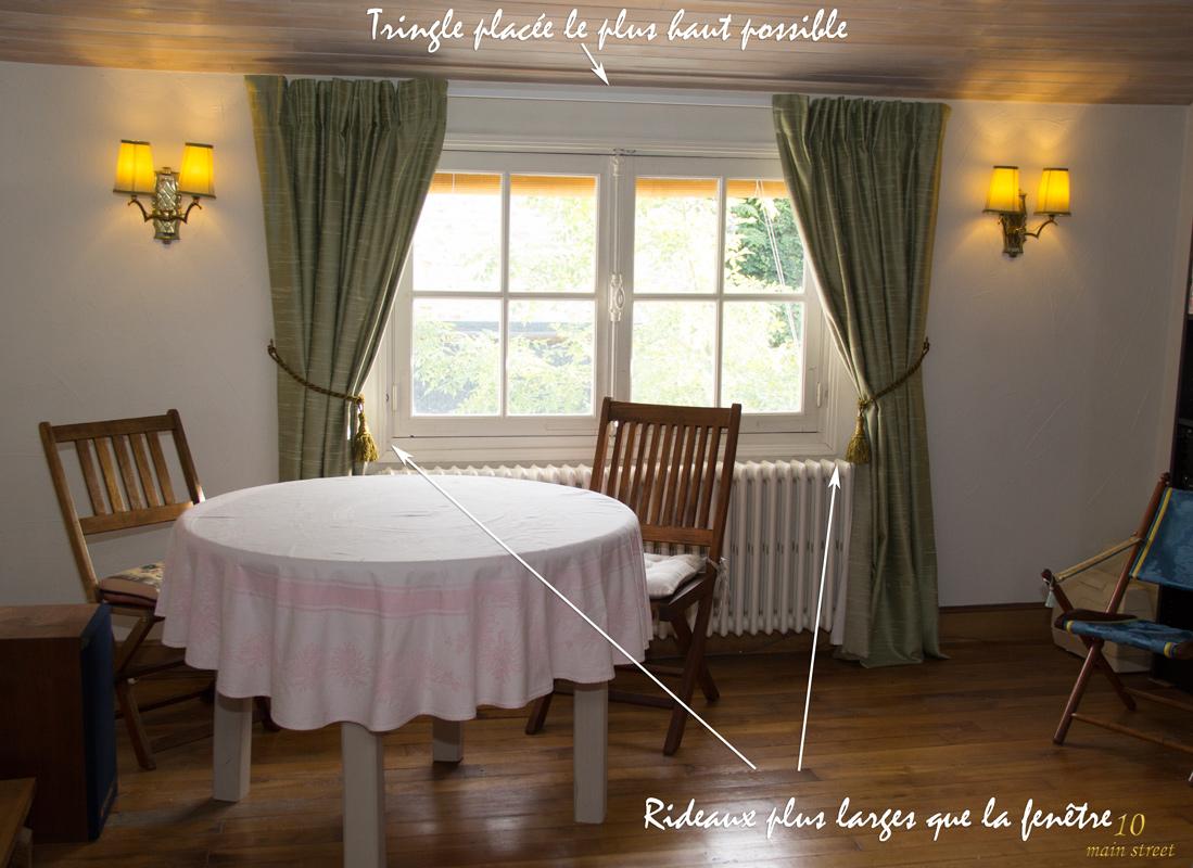 des rideaux pour une fen tre trop petite dans le salon vid o. Black Bedroom Furniture Sets. Home Design Ideas