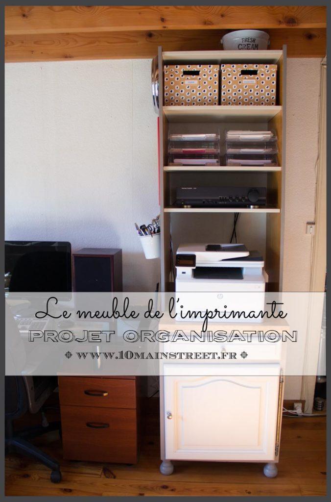 Projet d'organisation : le meuble de l'imprimante