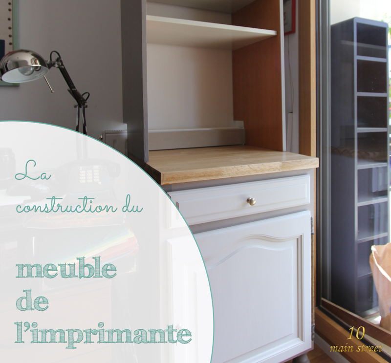 La construction du meuble de l 39 imprimante pour le bureau for Meuble imprimante