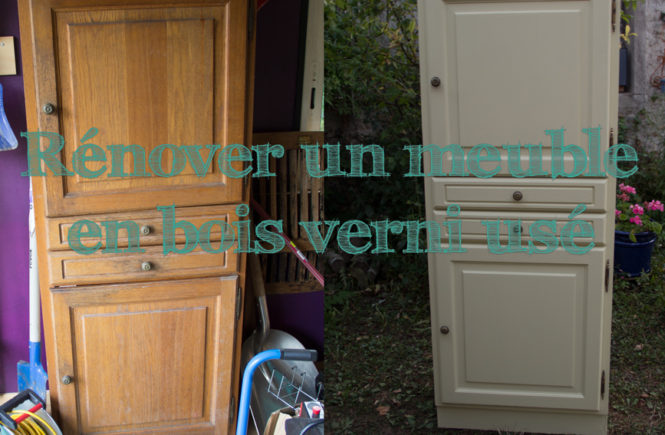 R nover un meuble en bois verni us une armoire pour le for Repeindre un meuble vernis