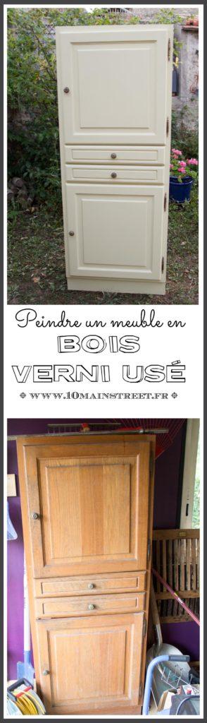Peindre un meuble en bois verni usé : une petite armoire pour le salon vidéo