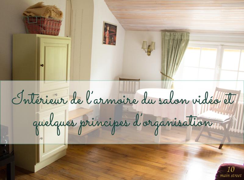 L'intérieur de la petite armoire et quelques principes d'organisation