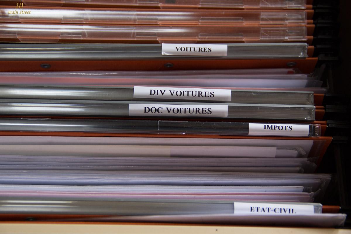 organisation : mon nouveau classement des papiers