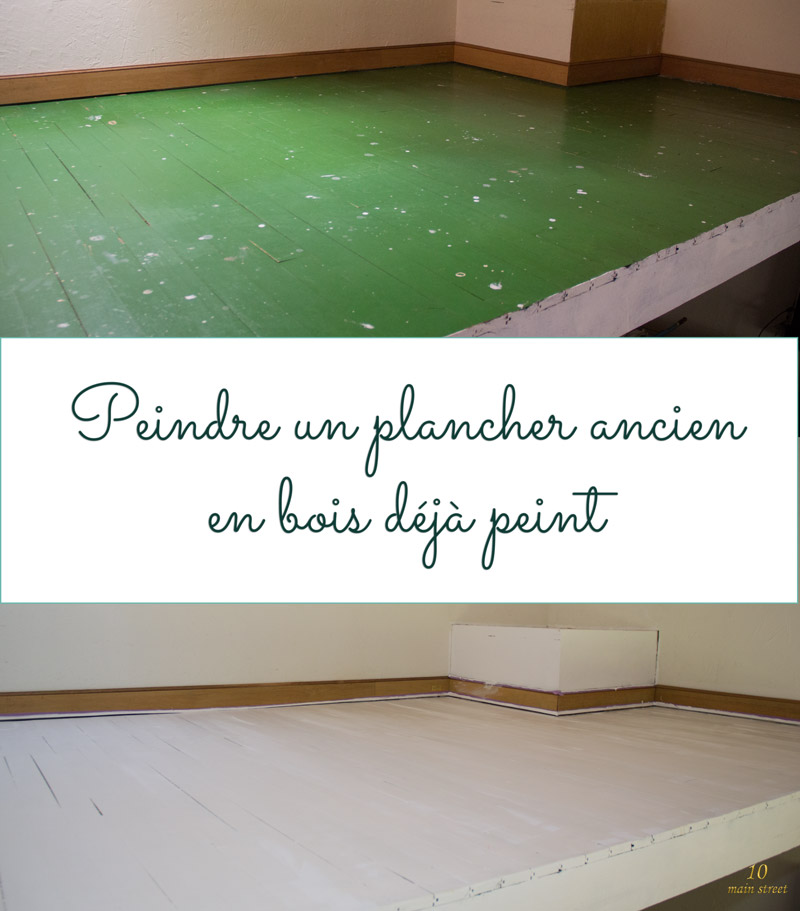 Peindre un plancher en bois meilleures images d - Peindre un mur deja peint sans poncer ...
