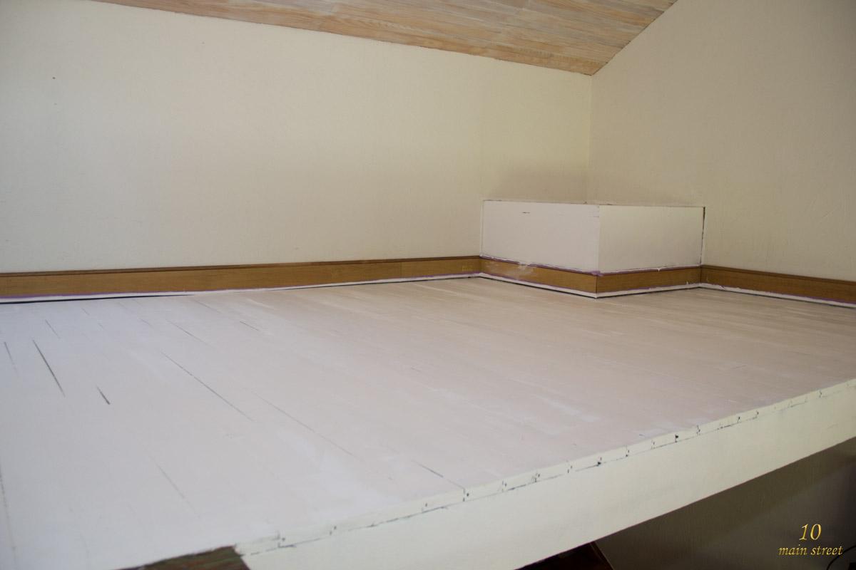 Plancher blanc interesting affiche de papier blanc vierge - Peindre son parquet en blanc ...