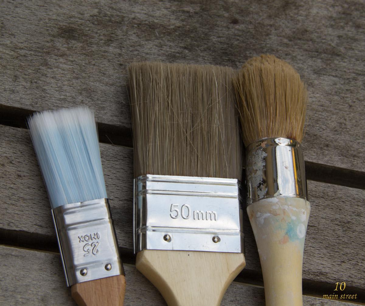 Diff rents types de pinceaux pinceaux de peintre et d for Type de peinture