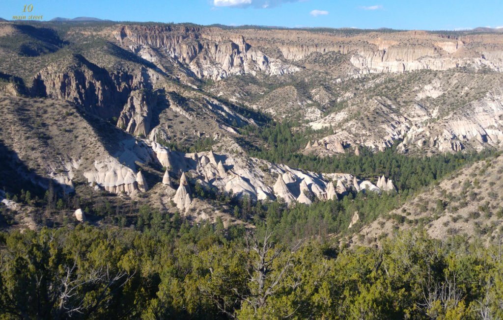 Vue panoramique de Tent Rocks