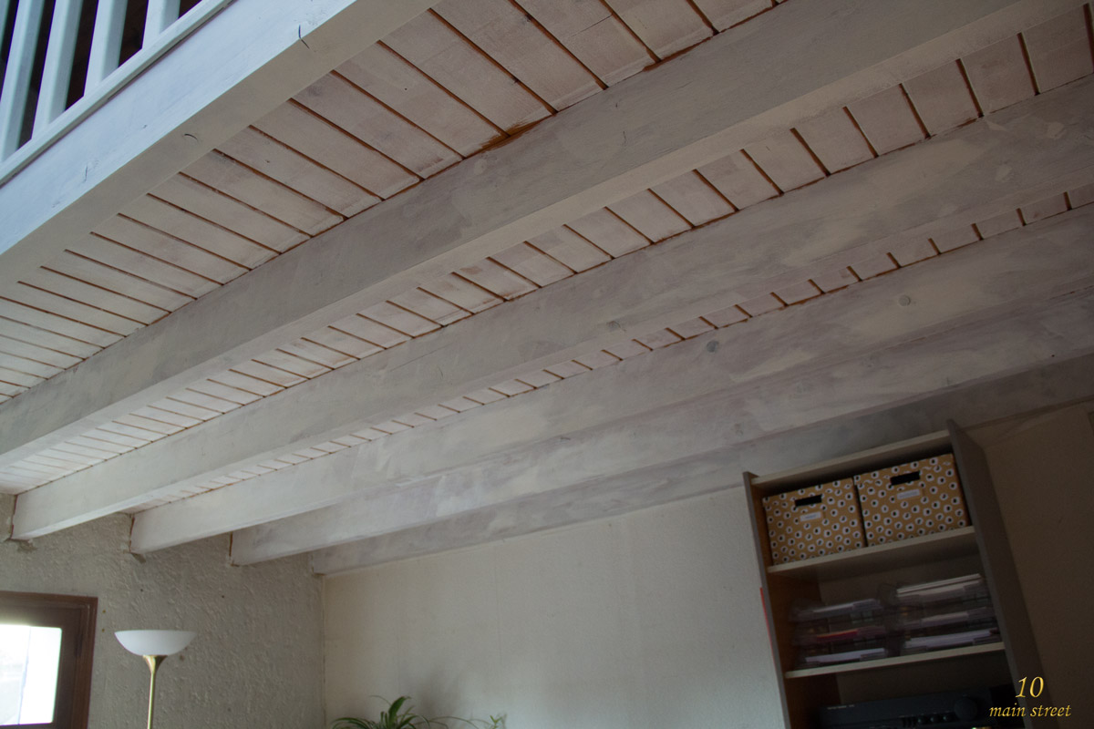 comment peindre les poutres et le plafond l ach 232 vement de la mezzanine
