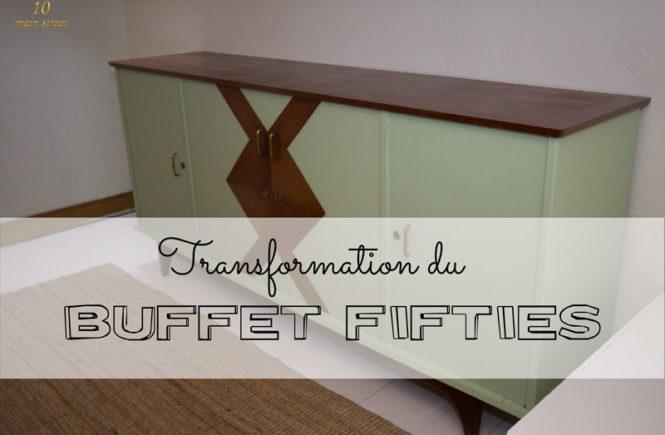 Transformation du buffet fifties récupéré sur Donnons