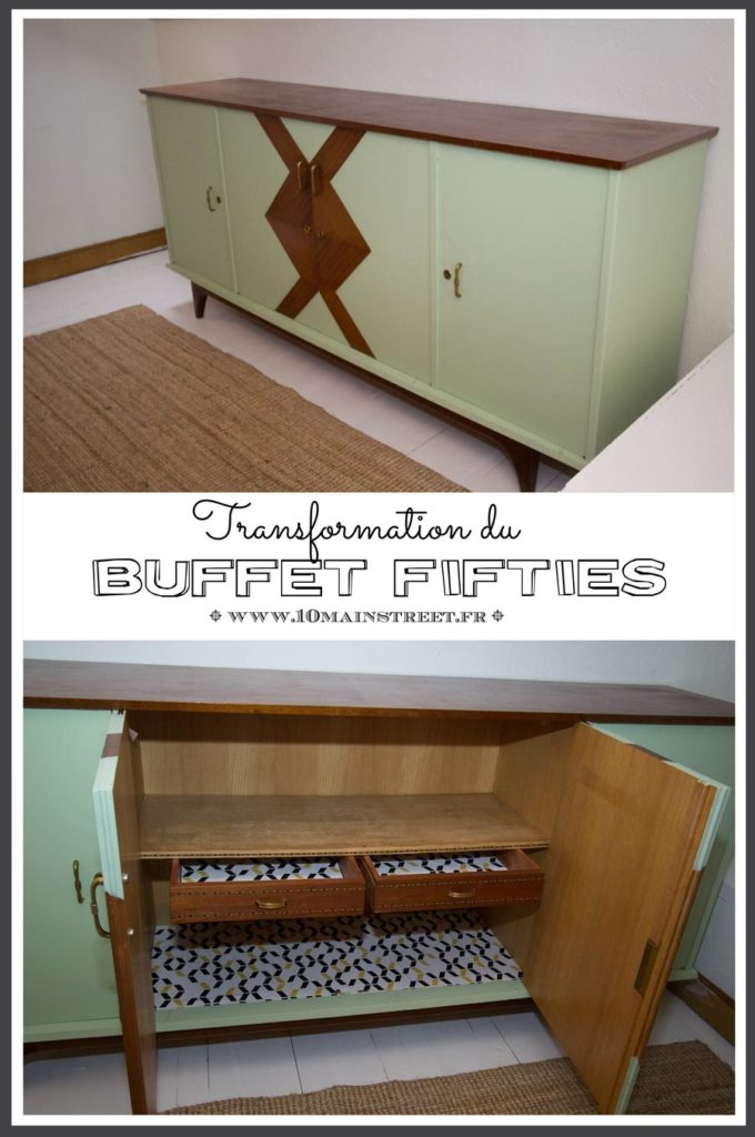 Transformation du buffet fifties - enfilade vintage