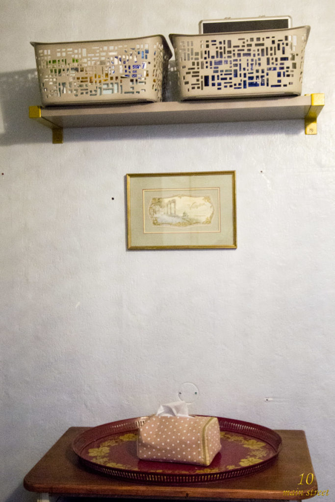 Ikea Ekby dans la salle de bain du rdc