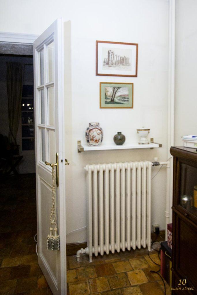 Déco du radiateur de la salle à manger