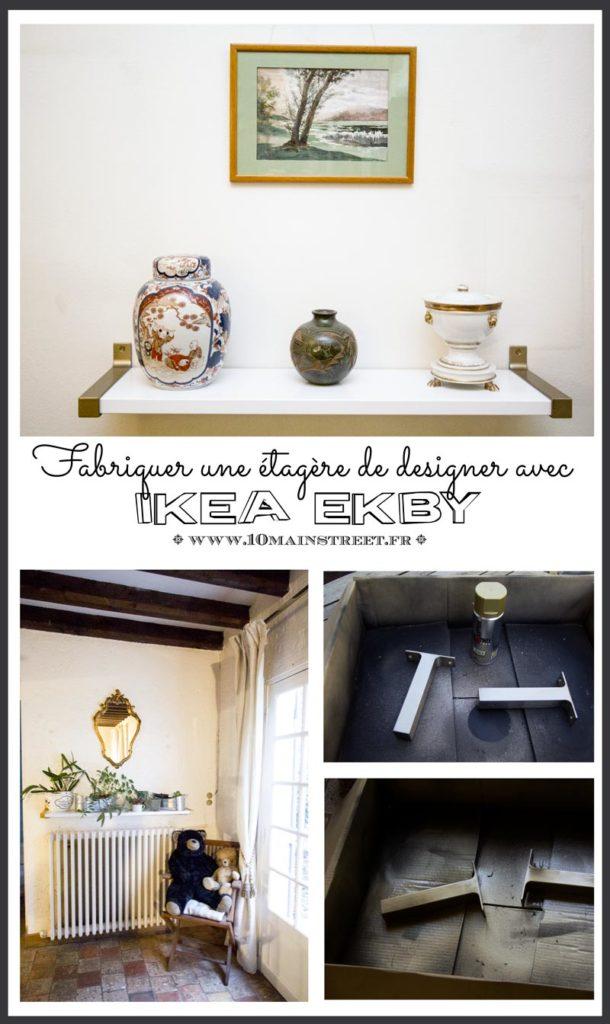 Fabriquer une étagère de designer avec des consoles Ikea Ekby | peinture à la bombe, #spray #pinty