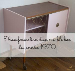 Transformation d'un meuble bar des années 1970