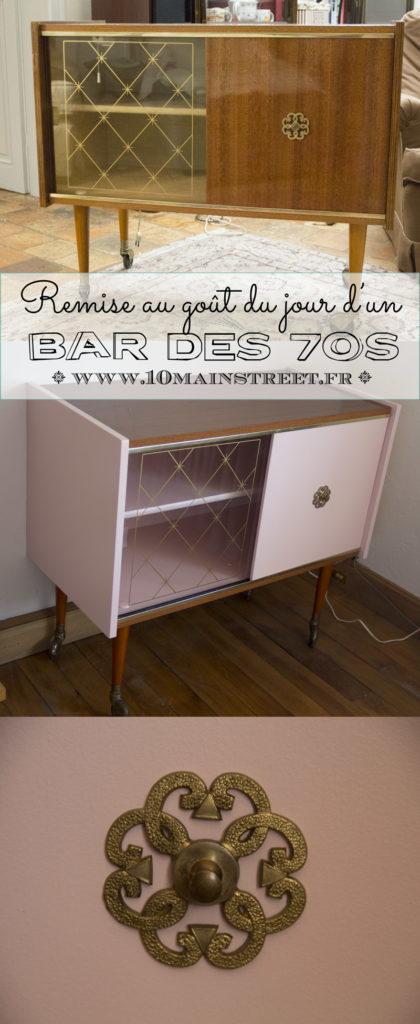 Remise au goût du jour d'un bar des 70s | www.10mainstreet.fr