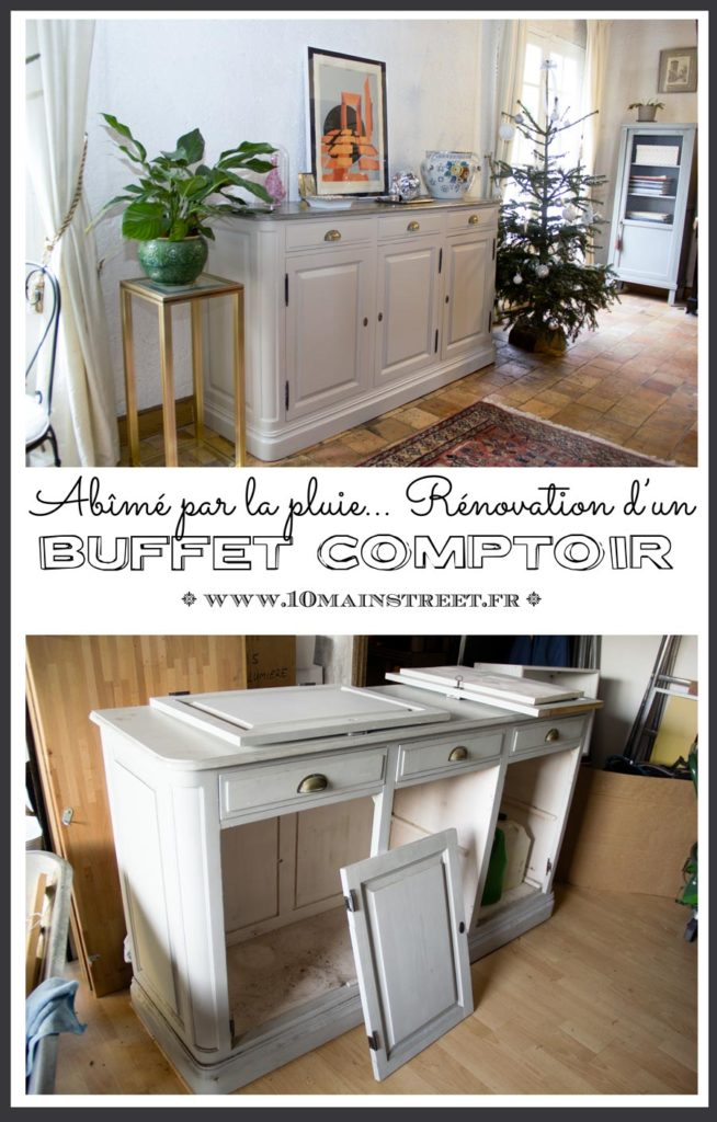 Rénovation d'un buffet comptoir abîmé par la pluie | furniture makeover #furnitureflip #meublerelooké #french #relookingmeuble