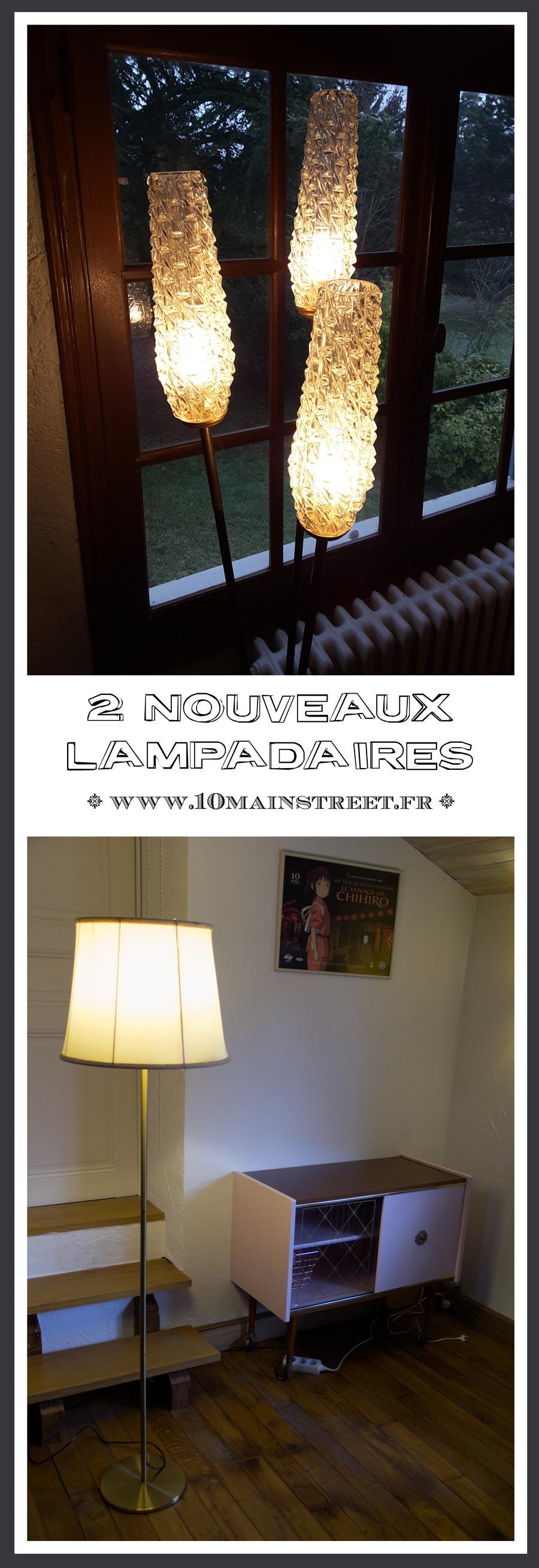 2 nouveaux lampadaires : merveille psychédélique des 60s et