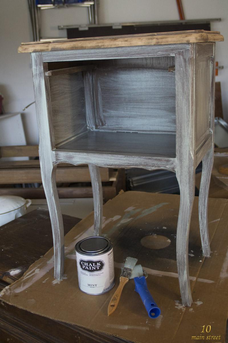 J 39 ai test la chalk paint action et c 39 est plut t bien en for Decorer un meuble bureau