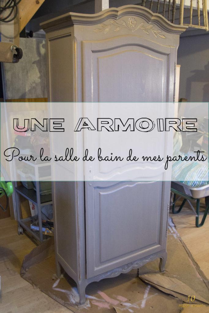 Une armoire pour la salle de bain de mes parents #relookingmeuble #furnituremakeover #meublepeint #paintedfurniture
