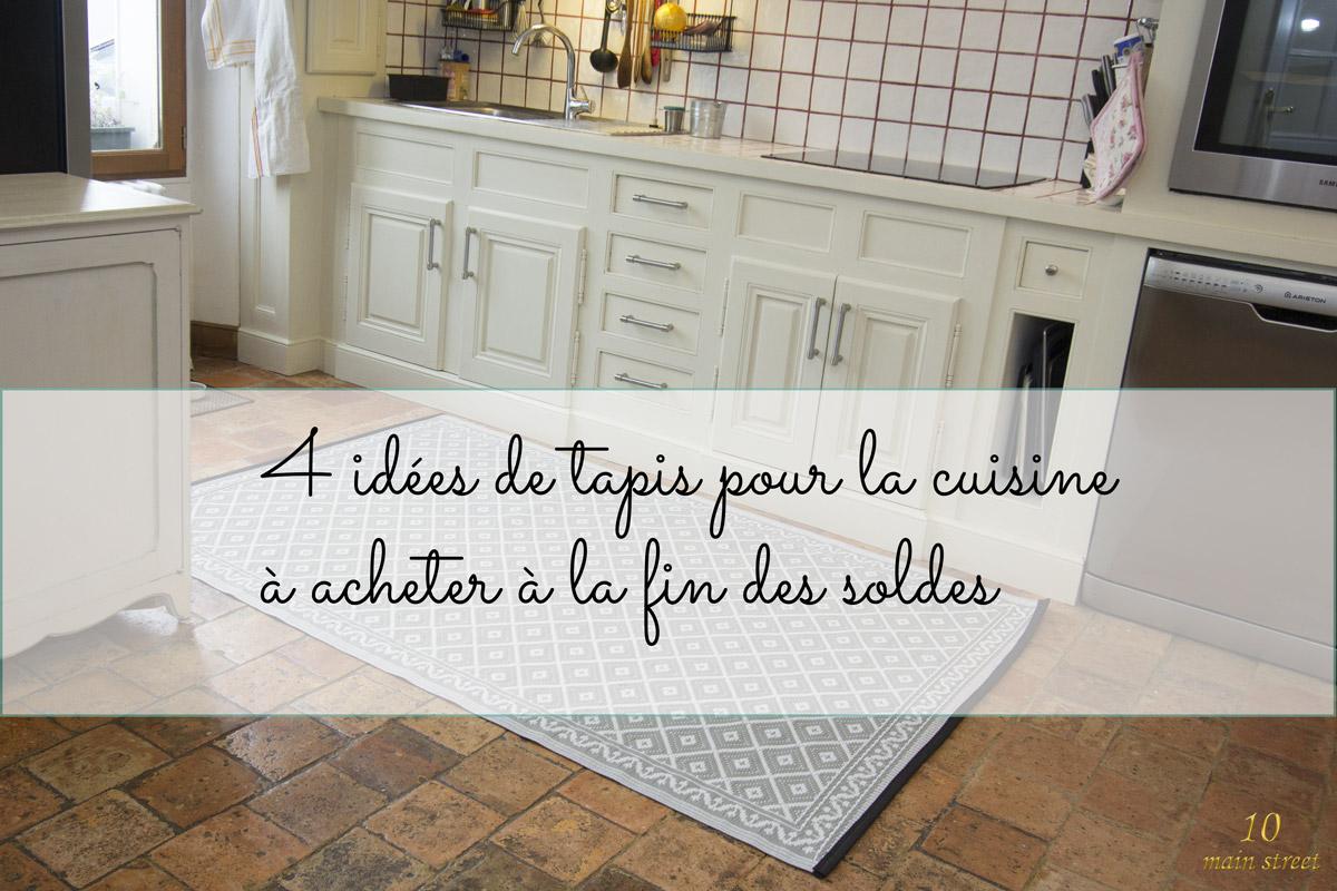 4 tapis pour la cuisine à acheter en ligne à la fin des soldes