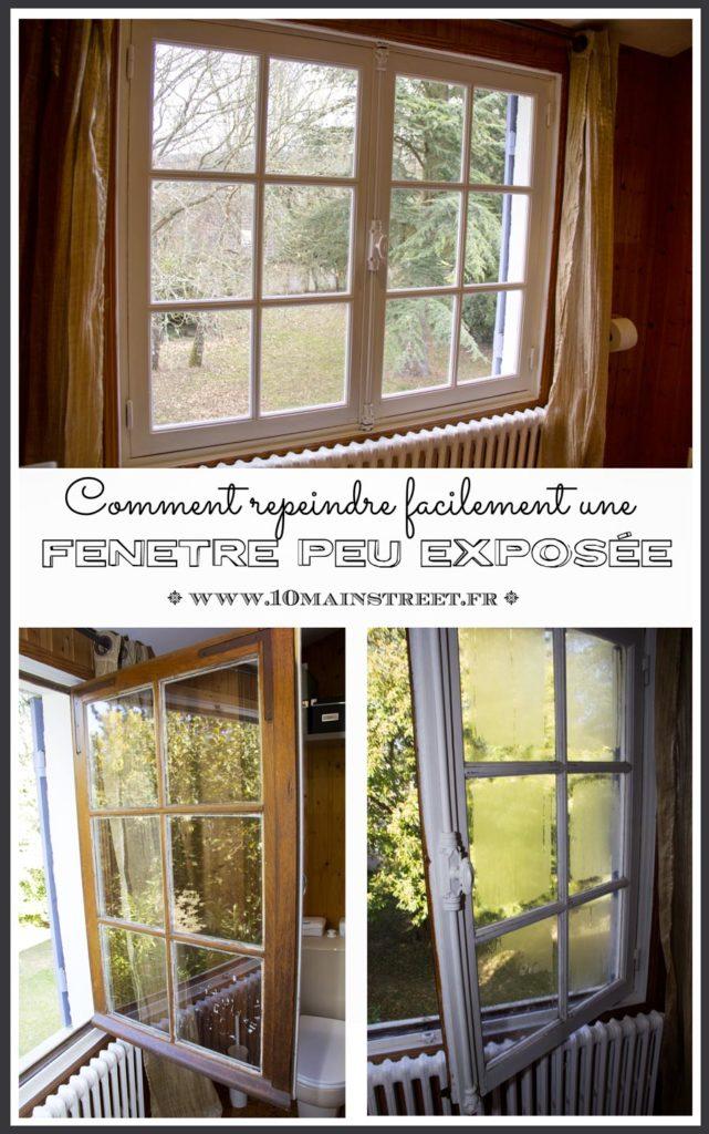 Repeindre une fenêtre peu exposée facilement