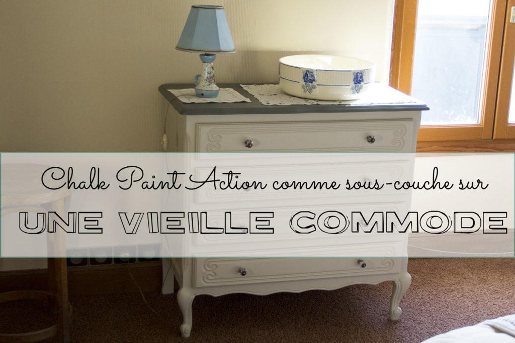Chalk paint action comme sous couche r novation de la - Sous couche peinture meuble ...