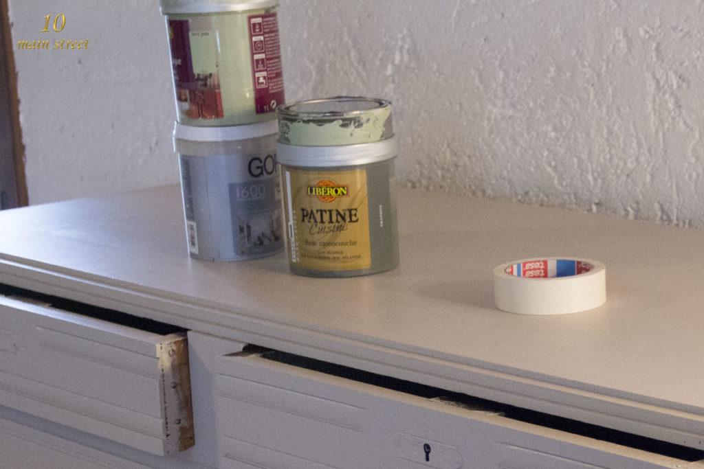 R novation d 39 un vieux buffet art d co bien ab m la - Patine cuisine liberon ...