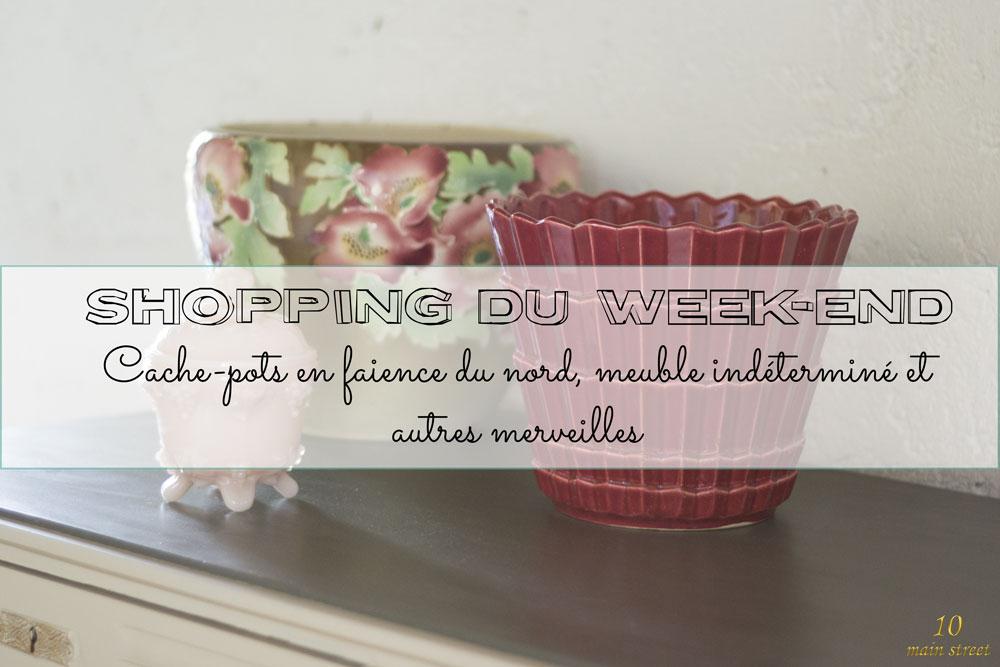 Shopping du week-end : cache-pots en faïence du nord et autres merveilles