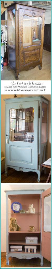 Une vitrine vintage rénovée sans ponçage