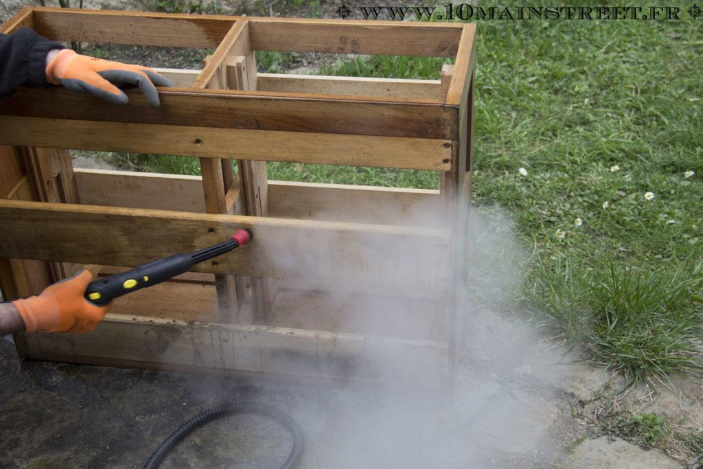 Nettoyage du classeur industriel au Kärcher vapeur