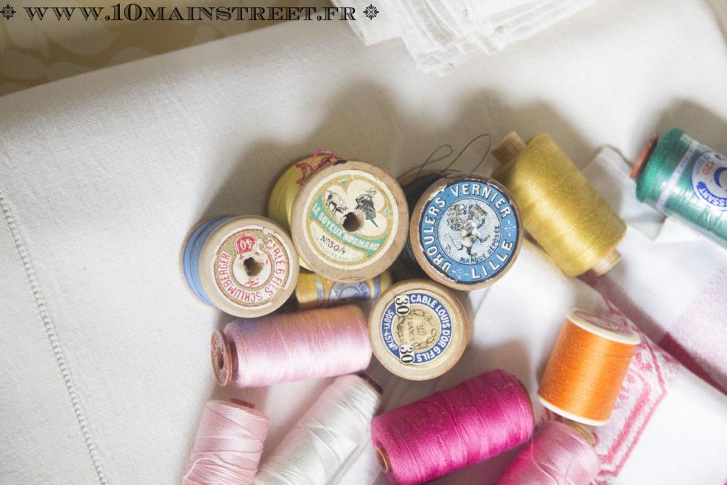 Etiquettes des bobines de fil ancien