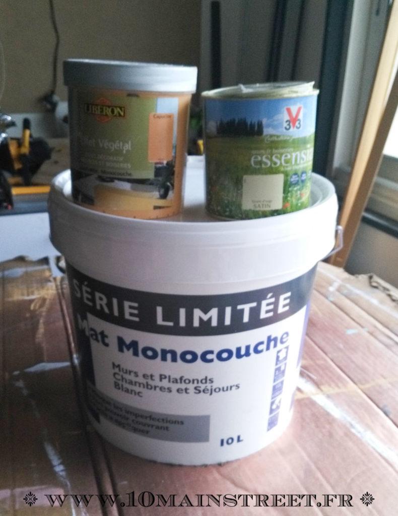 Blanc mat pour plafond de Tollens, Effet végétal capucine de Libéron et Grain d'Orge de V33