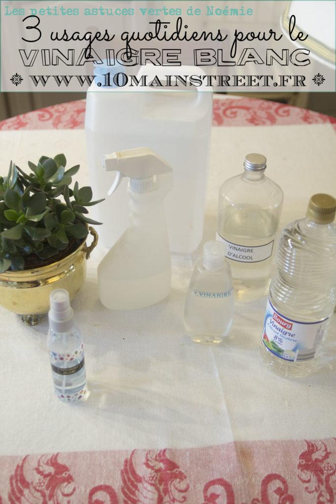 3 usages quotidiens pour le vinaigre blanc | www.10mainstreet.fr