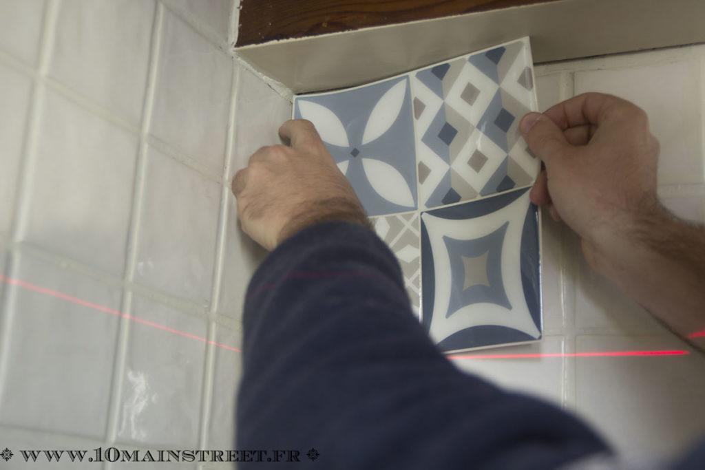 Pose de la première tuile Smart Tiles