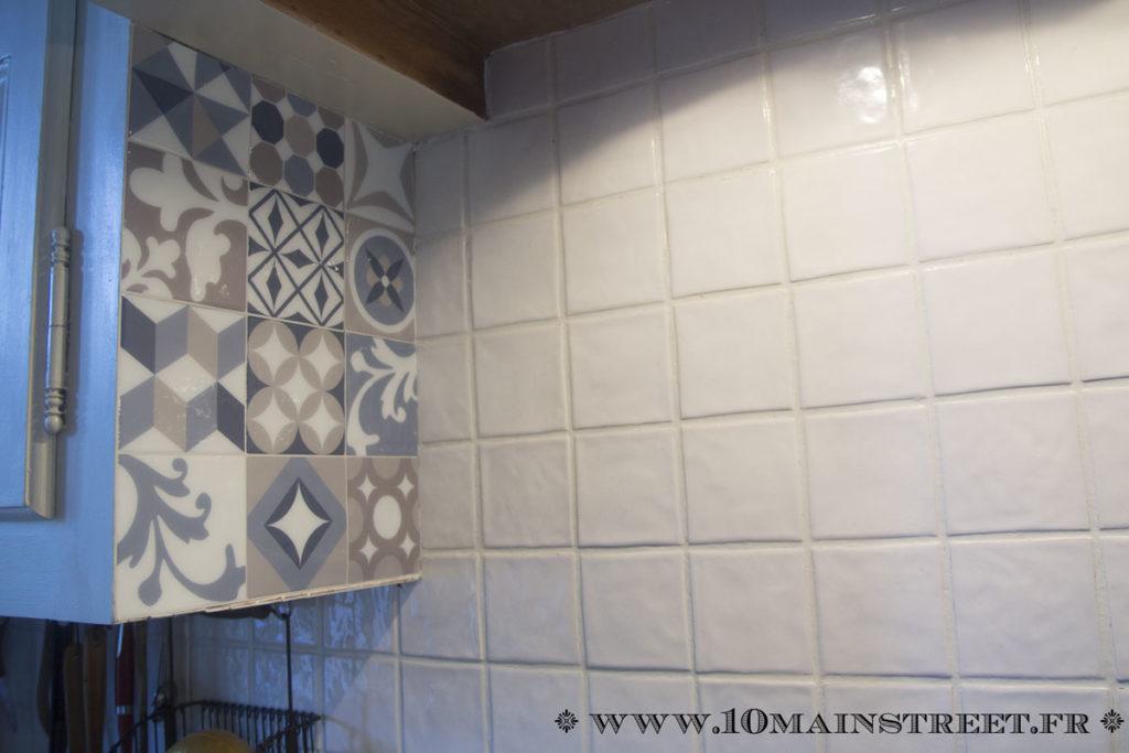 Pan de mur de gauche recouvert de Smart Tiles