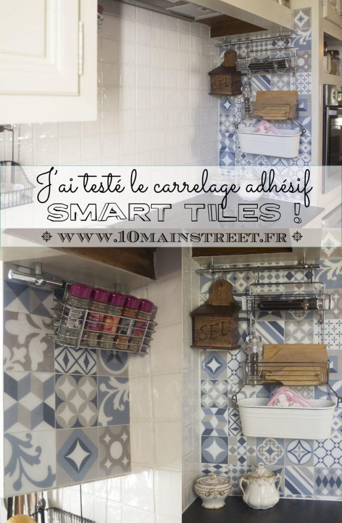 J'ai testé le carrelage adhésif Smart Tiles façon carreaux ciment | www.10mainstreet.fr