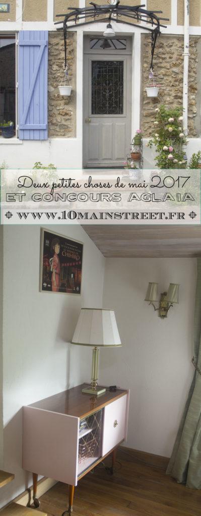 2 petites choses de mai 2017 et concours Aglaia | www.10mainstreet.fr